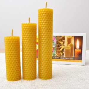 Кутия с 3 свещи